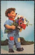 Meckikarte   Mecki Mit Einen Blumenstrauß - Mecki