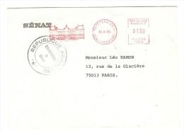 EMA 19/6/1980 PALAIS DU LUXEMBOURG CACHET RÉPUBLIQUE FRANCAISE BIBLIOTHEQUE DU SÉNAT POUR LÉO HAMON - 2 Scans - - Marcophilie (Lettres)