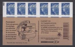 CARNET  MARIANNE DE  BEAUJARD   X2--- Bleu Europe  MODELE N°2 - Carnets