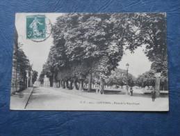 Louviers  Place De La République  - Ed. CV 1051 - Circulée 1908 - L243 - Louviers