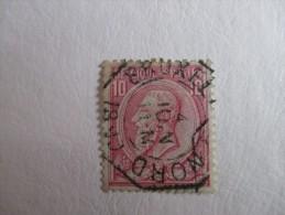 "Nr 46 Telegraafstempel ""Bruxelles Nord"" - 1884-1891 Leopold II"