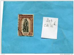 SAINT MARIN  N°203-Oblitéré-1l 50 Saroldi- Cote 45 Euros - Saint-Marin