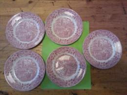 The Constable Series Bicentennial 1776-1976,5 Dessertbordjes,17 Cm, J. Broadhurst,, England - Autres