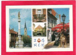 Multi View Post Card Of Zagreb, Croatia,U9. - Croatia