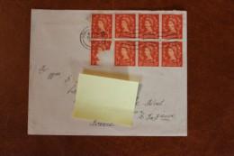 1 Lot De 2 Enveloppes  Belgiqueet  Angleterre 1955 Depart Pourr La France - Autres - Europe
