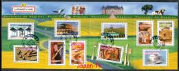 REPUBLIQUE FRANCAISE Mi.Nr. 3698-3707 Aspekte Der Regionen - Kleinbogen - Used - Oblitérés