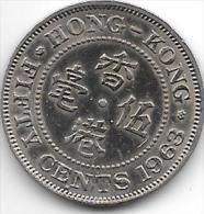 *hong Kong 50 Cents 1963 H  Km  30.1   Xf+ - Hong Kong
