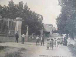CPA Hérault Fontanès Parc Et Jeu De Boule Pétanque - Frankrijk