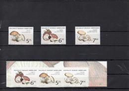 GROENLAND 2005   -serie ordinaire et adh�sifs  champignons **