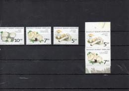 GROENLAND 2005   -serie ordinaire (3)et adh�sifs (2) champignons **