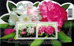 MBP-BK2-457 MINT � CANADA 2009 BLOCK � FLOWERS OF THE WORLD - FLEURS - BL�MEN - BLOEMEN - FLORES -