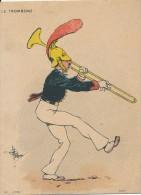 Chromo Le Trombonne Illustrée Par Guillaume Militaire Musique De La Garde Républicaine - Autres