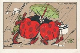 Chromo Bon Point Coccinelles Aux Provision Illustrée Par Ray LAMBERT Rare - Autres