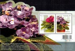 MBP-BK2-459 MINT � CANADA 2010 BLOCK � FLOWERS OF THE WORLD - FLEURS - BL�MEN - BLOEMEN - FLORES -