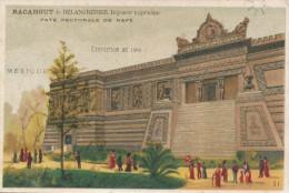 Chromo Exposition Paris 1889 Pavillon Du Mexique Racahout De DELANGRENIER Déjeuner Hygiénique - Autres