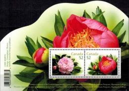 MBP-BK2-419 MINT � CANADA 2008 BLOCK � FLOWERS OF THE WORLD - FLEURS - BL�MEN - BLOEMEN - FLORES -