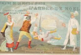 Chromo Théâtre De La Porte Saint Martin L'arbre De Noël Magasin DETOUCHE Paris - Autres