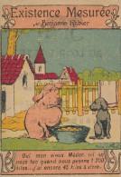 Chromo Existence Mesurée Cochon Chien Illustrée Par Benjamin RABIER Magasin Au Loup Botté Saint Denis - Autres