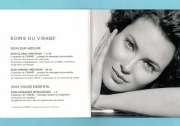 Cartes Parfumées Carte CHANEL ESPACE BEAUTÉ CHANEL LIVRET - Modern (from 1961)