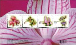 MBP-BK2-458 MINT � CANADA 2010 4w in serie � ORCHIDS OF THE WORLD - FLEURS - BL�MEN - BLOEMEN - FLORES -