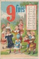 Chromo Enfants Table De Multiplication Table De 9 Jeu De Colin Maillard - Autres