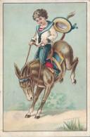 Chromo Mokka Des Trappistes Enfant à Dos D'ane Ou De Mule - Lithographie Landsberg - Autres