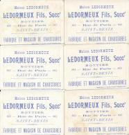 Lot De 6 Chromos Cyrano De Bergerac Théâtre - Magasin Bottier Maison DELORMEUX Saint Denis - Autres