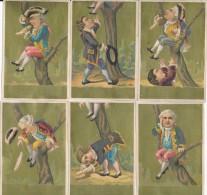 Série Complète De 6 Chromos Dorées Fable Le Corbeau Et Le Renard - Autres