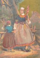 Chromo XIXème Femme De Pont L'Abbé Finistère Costume Et Coiffes Bretagne - Autres