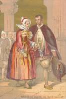 Chromo XIXème Mariés Du Bourg De Batz Loire Inférieure Costume Et Coiffes Bretagne - Autres