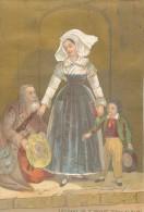 Chromo XIXème Artisane De Saint Brieuc Côtes Du Nord Costume Et Coiffes Bretagne - Autres