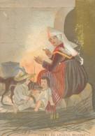 Chromo XIXème Femme De Lauzac Morbihan Costume Et Coiffes Bretagne - Autres