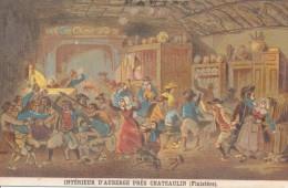 Chromo XIXème Intérieur D'Auberge Près De Chateaulin Finistère Costume Et Coiffes Bretagne - Autres