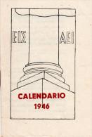 Piccolo Calendario 1946 ( Casa Editrice Studium ) - Con Tariffe Postali , Pubblicita Per Libri Ecc... - Calendriers