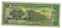 Guatemala 1 Qz. 1963, VF, FREE SHIP. TO USA. - Guatemala