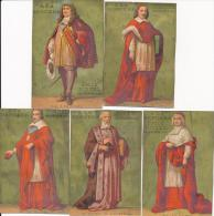 Lot De 5 Chromos Dorées Cardinaux Religieux Magasin A La Bergère Bonzel à Haubourdin (Nord) - Autres