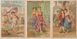 Lot De 3 Chromos Guérin-Boutron Les Danses - Guerin Boutron