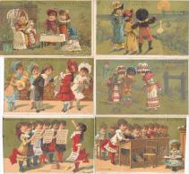 Lot De 10 Chromos Dorées Guérin-Boutron Lithographie Minot - Guerin Boutron