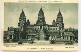 DEP 75 EXPOSITION COLONIALE 1931 ANGKOR - Expositions