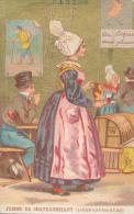 Chromo Dorée Femme De Chateaubriant Loire Inférieure Maison Du Pont Neuf à Nantes Costumes Et Coiffes Bretagne - Autres