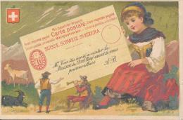 Chromo Dorée Suisse Maison Du Pont Neuf à Nantes Les Pays Timbres Carte Postale - Autres