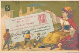 Chromo Dorée Belgique Maison Du Pont Neuf à Nantes Les Pays Timbres Carte Postale - Autres