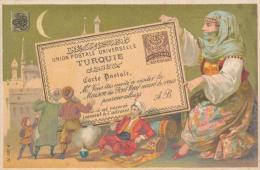 Chromo Dorée Turquie Maison Du Pont Neuf à Nantes Les Pays Timbres Carte Postale - Autres