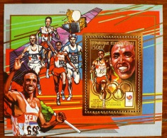 CENTRAFRIQUE Jeux Olympiques Seoul 88. MICHEL  N° 460 BF OR. Dentele. Perforate. ** MNH. - Ete 1988: Séoul