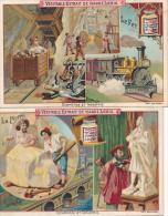 Lot De 2 Chromos Liebig Commerce Et Industrie Mineurs Le Fer Et La Pierre - Liebig