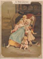 Chromo Le Petit Journal Sur Papier Grand-Mère Et Petits Enfants 1892 - Autres