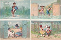 Lot De 8 Chromos Scènes Enfantines - Autres