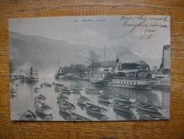 """Carte Assez Rare , Annecy , Le Port """""""" En 1904 - Annecy"""