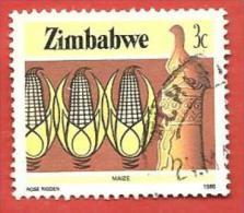 ZIMBABWE USATO - 1985 - National Infrastructure - Mais Maize - 3 Cent - Michel ---- - Zimbabwe (1980-...)