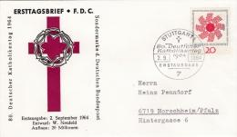 Germany FDC 1964 Katholikentag  (G41-71) - [7] Federal Republic